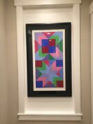 Victor Vasarely Door Original Serigraph Signed And Numbered - Rare