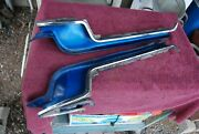 1972-73 Lincoln Continental Left And Right Body To Bumper Chrome / Rubber Fillers
