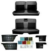 1962 Impala Coupe Front And Rear Bench Seat Upholstery + Panel Set In Any Color