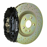 Brembo Gt Bbk For 05-14 Mustang V6 Excl. Non-abs   Front 4pot Black 1b4.8001a1
