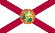Valley Forge Flag 2-foot By 3-foot Nylon Florida State Flag With Canvas Header