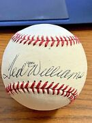 Ted Williams 8 Signed Autographed Babe Ruth Hof Induction Baseball Red Sox