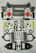 1953-1956 Ford F100 Mustang Ii Manual Front End Suspension Stock Kit Red Wilwood