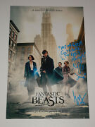 Fantastic Beasts And Where To Find Them Signed X2 Autographed 12x18 Photo Poster