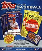 2012 Topps Baseball Value Box 16 Box Case Blowout Cards