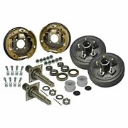 Trailer Axle Kit With Electric Brakes And 5-bolt Drums Akrd-3500545f-hd-h