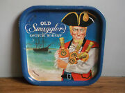 Rare Vintage Old Smuggler Scotch Whisky Advertising Tray Made In Great Britain.
