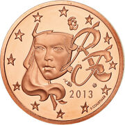 [487652] France 2 Euro Cent 2013 Proof Ms65-70 Copper Plated Steel