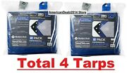 Memberand039s Mark 16and039 X 12and039 Commercial Tarps Reinforced Corners Blue/gray 4 Count