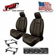 Tmi Pro Series Sport Xr Lowback Bucket Seats For 1971 - 1973 Mustang, Made In Us