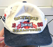Rare 1996 Usa Olympics Dream Team Baseball Hat/cap-pippen/shaq/malone/stockton