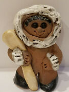 Vintage Happy Creatures, Alaskan Clay Sculptures, Hunting Inuit Figurine, Excell