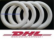 Genuine Atlas Classic 14and039and039 Wide White Wall Portawall Tire Insert Trim Set 100