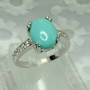 2ct Sleeping Beauty Vintage Turquoise Stones Ring Jewelry Sterling Silver Bead