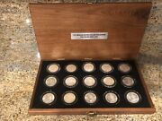 15 New Orleans Morgan Dollars Collection 1979 To 1902 In Wood Presentation Box