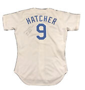 Rare 1989 Mickey Hatcher Game Jersey Los Angeles Dodgers Rawlings Signed 1988 Ws