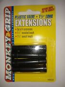 Monkey Grip Set Of 4 Plastic Valve Long Stem Extensions 1 1/4 Long For Any Tire