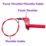 Red Cnc Alloy Twist Throttle +cable For Xr50 Crf50 Klx110 Ttr Ssr Ycf Moto Parts