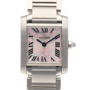 Watches Silver Stainless Steel Tank Francais From Japan