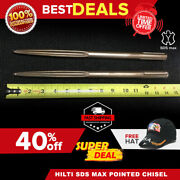 Hilti Sds Max Pointed Chisel 14 Set Of 2 Preowned Free Hat Fast Ship