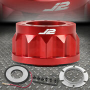 J2 For Nissan D21 240sx Altima Maxima Sentra 2h Steering Wheel Hub Adapter Red