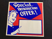 Vtg 50and039s Western Auto In Store Ad Paper Sign Housewife Special Offer Blank 2