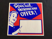 Vtg 50and039s Western Auto In Store Ad Paper Sign Housewife Special Offer Blank 3