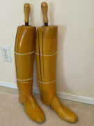 1930s Dehnerand039s Omaha Wood Riding Boot Size 7 Trees Tall Boot Form Stretchers Usa