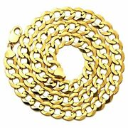 Lovebling 10k Yellow Gold 12mm Plain Solid Curb Cuban Necklace 18 To 30