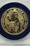 2016 Uk Queens Beast Series Lion Of England 1 Oz Gold Rare First In The Series