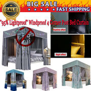 95 Lightproof Windproof 4 Corner Post Bed Curtain Canopy Mosquito Net Canopy