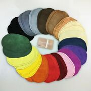 Pair Of Suede Leather Elbow Or Knee Patches With Sewing Holes - 16 Colours