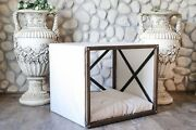 Lynx Indoor Wood Dog House Modern Crate Luxury Pet Furniture Sofa Bed