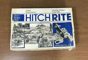 Valley Custom Hitch Rite Class 1 Trailer Hitch 5878 Chrome Plated Draw Bar Nos
