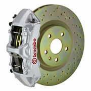 Brembo Gt Bbk For 05-14 Mustang V6 Excl. Non-abs | Front 6pot Silver 1m4.8001a3