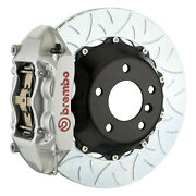 Brembo Bbk For 17-19 982 718 Cayman Pccb Equipped   Rear 4pot Silver 2p3.8056a3