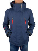 Superdry Menand039s Hooded Tech Attacker Jacket In Lauren Navy // Bnwt Sale Andpound85