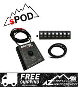 Spod 8 Circuit Bantamx W/ Amber Led Switch Panel And 84 Battery Cable - Universal