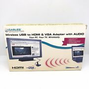 Cables Unlimited Wireless Usb To Hdmi And Vga Adapter With Audio Htf In Box