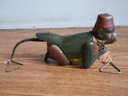 Rare Vintage Lehmann Climbing Tom Tin Toy Of 30's Made In Germany.