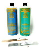 Copper And Nickel Plating Solutions And Anodes By Krohn - Set 2 Quarts And 2 Anodes
