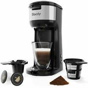 Sboly Single Serve K Cup Coffee Maker Brewer For K-cup Pod And Ground Coffee