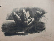 Rare Charcoal Sketch On Paper By Prominent Artist John S Sargentandnbsp