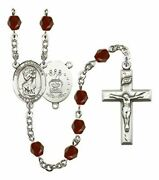 January Birth Month Prayer Bead Rosary With Saint Christopher Air Force Centerpi