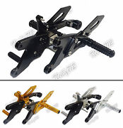 Adjustable Rearsets Footrest Foot Rest Pegs Rear Set For 2015-2016 Yamaha Yzf R1