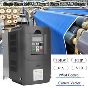 7.5kw 220v 10hp 16a Vfd Variable Frequency Drive Inverter Ce Single To 3 Phase