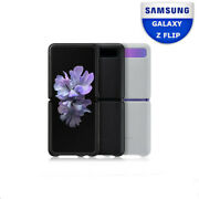 Genuine Samsung Galaxy Z Flip Natural Cowhide Leather Phone Case Cover Skin