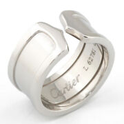 Ring Silver 18k K18 White Gold C2 Large From Japan