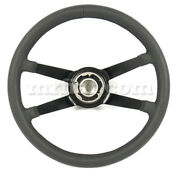 For Porsche 911 Rsr Racing Style Deep Dish Thick Grip Leather Steering Wheel New