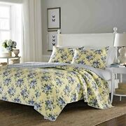 Brand New Laura Ashley Linley Quilt Set King